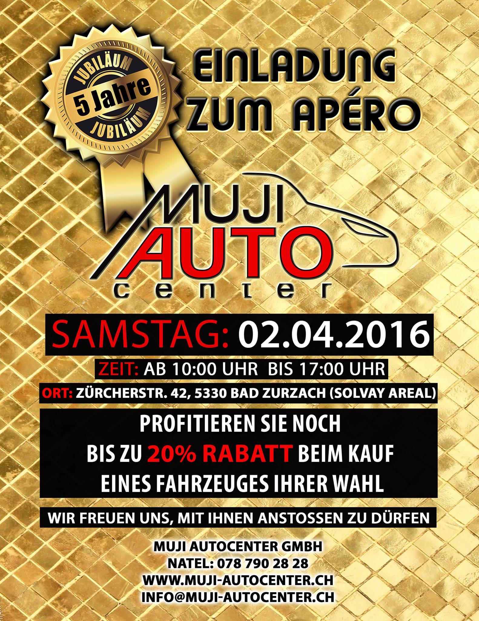 5 Jähriges Jubiläum unserer Firma Muji Autocenter GmbH